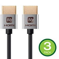 3-Pk Monoprice 4K Slim High Speed HDMI Cable 1.5-ft 18Gbps Deals