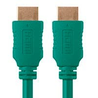 Monoprice Select Series High Speed HDMI Cable - 4K@60Hz HDR 18Gbps YUV 4:4:4 28AWG 10ft, Green