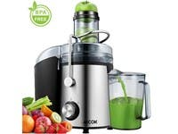 Aicok Juicer 1000W Power, 75MM Wide Mouth Juice Extractor  Easy to Clean, 2 Speed for Fruit and Vegetables (refurbished)