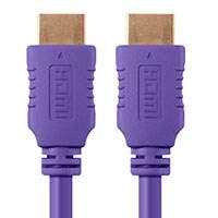 Monoprice Select Series High Speed HDMI Cable - 4K@60Hz HDR 18Gbps YUV 4:4:4 28AWG 10ft Purple