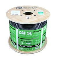 Cat5e UTP Outdoor Ethernet Network Cable Direct Burial 350MHZ 24AWG 1000FT Black