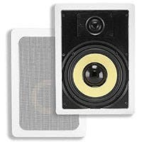 Caliber In-Wall Speakers, 8in Fiber 2-Way (pair)