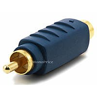 Monoprice S-Video (VHS) Male to RCA Male Adapter - Gold Plated