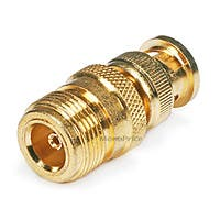 Monoprice BNC Male to N Female Adapter - Gold Plated