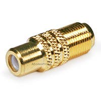 Monoprice RCA Female to F Female Adapter - Gold Plated
