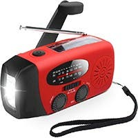 Emergency Hand Crank weather Radio AM/FM NOAA Solar w/ LED Flashlight