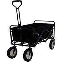 Collapsible Folding Outdoor Utility Wagon pull cart - Black