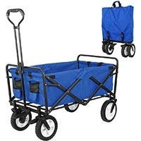 Collapsible Folding Outdoor Utility Wagon pull cart - blue
