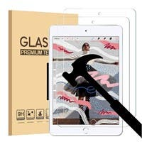 iPad Mini 5 7.9 Inch (2019) Screen Protector, [Anti-Scratch][Anti-Fingerprint][Bubble Free] Tempered Glass x 2