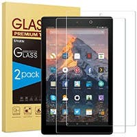 Screen Protector for Fire HD 10 Tempered Glass Screen Protector for All-New Fire HD 10 (9th / 7th, 2019/2017 Released) 2 packs