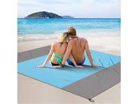 "Sand Free Beach Blanket, 78"" x 75"" Oversized Waterproof Beach Mat Quick Drying Heat Resistant Lightweight Outdoor Picnic"