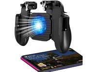 Mobile Game Controller with Cooling Fan rubber non-slip handle for better comfort