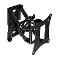 Monoprice Full-Motion Articulating TV Wall Mount Bracket For TVs 13in to 27in, Max Weight 66 lbs, Extension Range of 3.3in to 5.8in, VESA Patterns Up to 100x100, Works with Concrete & Brick