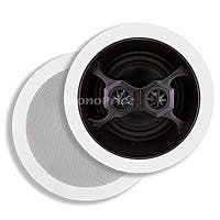 Monoprice Aria In-Ceiling Speakers, 6.5in Dual Input Stereo 2-Way (pair)