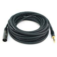 Monoprice 25ft Premier Series XLR Male to 1/4in TRS Male Cable, 16AWG (Gold Plated)