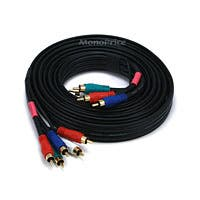 Monoprice 10ft 22AWG 5-RCA Component Video/Audio Coaxial Cable (RG-59/U) - Black