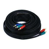 Monoprice 35ft 22AWG 3-RCA Component Video Coaxial Cable (RG-59/U) - Black