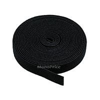 Monoprice Hook and Loop Fastening Tape, 5 yards/roll, 0.75 in, Black