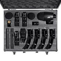 Stage Right by Monoprice 7-piece Drum and Instrument Mic Kit with Mounts and Case