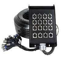 Monoprice 16-channel XLR Snake & 12x4 Stage Box - 98 feet (30 Meters)
