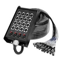 Monoprice 20-Channel Snake & 16 XLR x 4 TRS Stage Box - 100 feet
