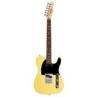 Monoprice Indio Retro Classic Electric Guitar with Gig Bag, Blonde