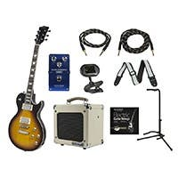 Monoprice Route 66 Guitar with Gig Bag and 5 Watt Tube Amp, Blues Overdrive Pedal, Tuner, Strap, 2 Cables, Stand, and Replacement Strings