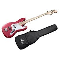 Indio by Monoprice Jamm Bass with Gig Bag, Wine Red