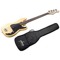 Indio by Monoprice Pubb Bass with Gig Bag, Blonde