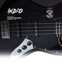 Monoprice Indio Electric Nickel Wound Bass String Set Made in America Regular (.045-.100)