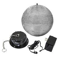 Stage Right by Monoprice 10-inch Mirror Ball & Motor with LED Lights
