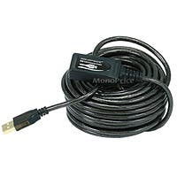 Monoprice USB-A to USB-A Female 2.0 Extension Cable - Active, 28/24AWG, Repeater, Kinect & PS3 Move Compatible, Black, 32ft