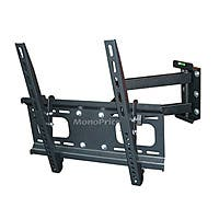 Monoprice Commercial Series Full-Motion TV Wall Mount Bracket For TVs 32in to 55in, Max Weight 99lbs, Extension Range of 3.7in to 20.1in, VESA Patterns Up to 400x400, Concrete & Brick