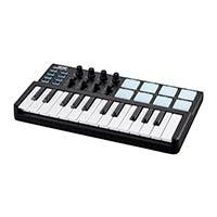 Stage Right by Monoprice SRK Mini USB MIDI Keyboard Controller with 8x RGB Pads