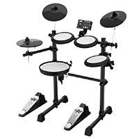 Stage Right by Monoprice 5-piece Electronic Drum Kit with Mesh Heads and 8in Double Trigger Snare