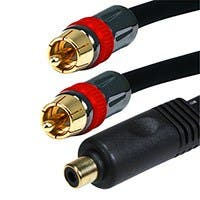 Monoprice 6in RCA Female to 2x RCA Male Digital Coaxial Splitter Adapter