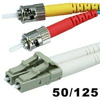 Monoprice Fiber Optic Cable - LC to ST, OM3, 50/125 Type, Multi Mode, 10Gb, Duplex, Aqua, 1m, Corning