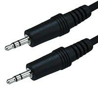 6ft 3.5mm Stereo Plug/Plug M/M Cable - Black