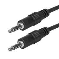 Monoprice 12ft 3.5mm Stereo Plug/Plug M/M Cable - Black