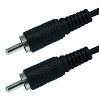 Monoprice 6ft RCA Plug/Plug M/M Cable - Black