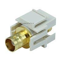 Monoprice Keystone Jack - Modular BNC (Ivory)