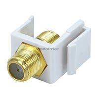 Monoprice Keystone Jack - Modular F Type (White)