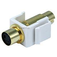 Monoprice Keystone Jack - S-Video Mini 4Pin M/F (White)