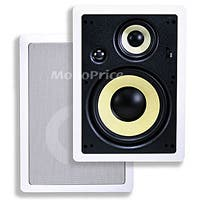 Caliber 8in Fiber In-Wall Speakers 3-Way (pair)