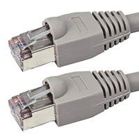 Monoprice Cat5e Ethernet Patch Cable - Snagless RJ45, Stranded, 350Mhz, STP, Pure Bare Copper Wire, 24AWG, 100ft, Gray