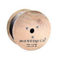 Monoprice 1000ft CL2-rated Quad-Shielded 18AWG RG6 Bulk Coaxial Cable, Black