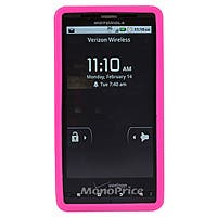 Silicone Case for Motorola Droid X and Droid X2, Pink