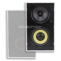 Monoprice Caliber In-Wall Speakers 6.5-Inch Fiber 3-Way with Concentric Mid/Highs (pair)