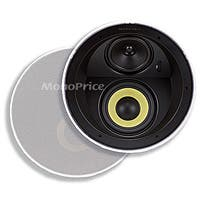 Caliber Ceiling Speakers 6.5in Fiber 3-Way with Concentric Mid/Highs (pair)