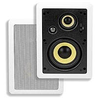 Caliber In-Wall Speakers 5.25-Inch Fiber 3-Way (pair)